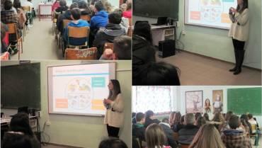 Ομιλία στο Γυμνάσιο Κομποτίου : Διατροφή Εφήβων